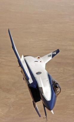 First flight of the X-31 was October 11, 1990. NASA Photo - X-31A front view banked in flight by MultiplyLeadership, via Flickr: Front View, Fighter Planes Jets, Flight, Military Planes, Nasa Photos, Aircraft, 1990 Nasa, View Banked, 31A Front