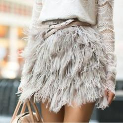 floating: Fashion, Inspiration, Skirts, Feather Skirt, Dress, Street Style, Outfit, Feathers