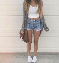 Great to go to the mall in this: Short, Weheartit, Fashion, Style, Clothes, We Heart It, Posts, Cute Summer Outfits, Hair