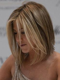 jennifer aniston haircut | Wife-chop inspirations (my actual one will be slightly below shoulder ...: Jennifer Aniston, Color Highlights, Blonde, Hair Cut, Hairstyle, Hair Style, Long Bob, Hair Color
