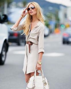 Kors: Shirtdress, Casual Chic, Summer Looks, Summer Street Fashion, Michael Kors, Outfit, Spring Fashion, Fashion 2015