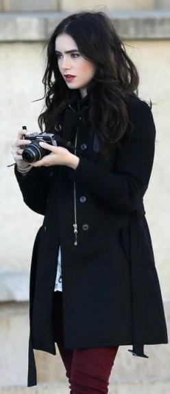 Lily Collins ♥: Girl, Style, Lilycollins, Black Hair, Lilies, Lily Collins, Camera, Lilly Collins