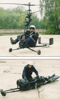 Portable helicopter.  I don't personally know this guy, but based upon this picture alone, he's cooler than me.: Picture, Idea, Ultralight Helicopters, Portable Helicopter, Helicopter Gadgets, Guy Gadgets, Gadgets Innovation