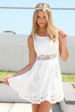 : Summer Dresses, Fashion, Whimsical Dress, Style, White Dress, Wedding Dress, White Lace