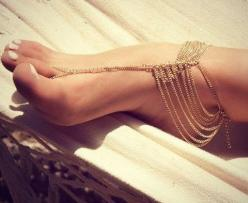 Tassel ankle bracelet Boho foot chain: Fashion, Foot Jewelry, Style, Chains, Anklets, Accessories