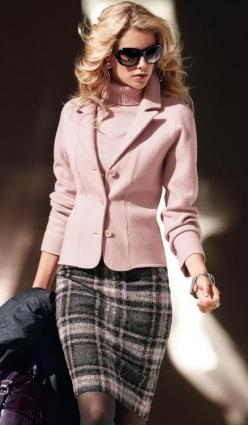 Very pretty in pink: Women S, Fashion, Plaid Skirts, Clothes, Dress, Styles, Work Outfits, Wear