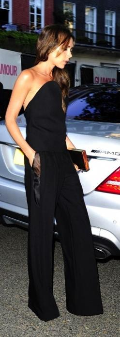 Victoria Beckham perfect jumpsuit!  You'd have to be 90lbs to pull it off and I have no idea what is holding it up, but it's gorgeous.: Fashion, Style, Dress, Victoria Beckham, Victoriabeckham, Outfit, Pocket Detail