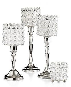 """Leeber Candle Holder, 9.5"""" Sparkle Candlestick - Candles & Home Fragrance - for the home - Macy's"""