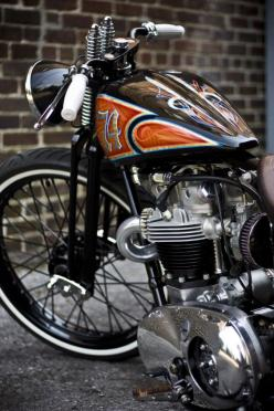 pinterest.com/fra411 #classic #motorbike #custom - Beautiful custom bike with a springer front end and fantastic paint.