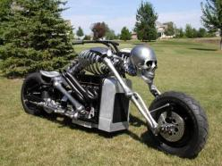 This is bada**  I can totally see Judith riding the road with this.  Droppin kids off to school.: Harley Davidson, Skeleton Bike, Ghost Rider, Bad Ass, Motorbike, Skeleton Motorcycle