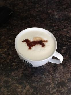 Ah! This is great...Starbucks and dachshunds...nothing better!: Doxie Coffee, Daschund, Latte Art, Doxie S, Doxies, Dachshund Clube, Wiener Dogs, Coffee Art, Animal