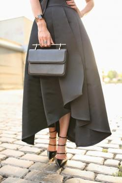 : Atlantic Pacific, Fashion, Style, Dress, Outfit, Black Skirts, Bags