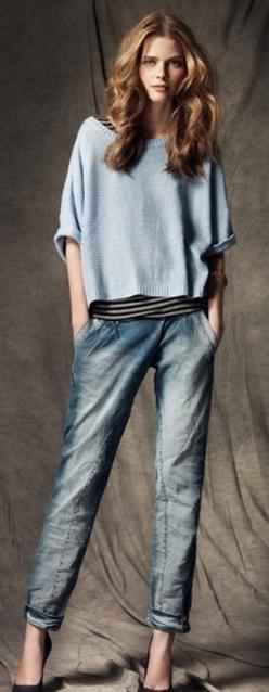BLANCO fall 2012: Boyfriend Jeans, Denim Style, Fashion Style, Clothes, Blue Jeans, Casual, Outfit, Hair, Jeans Denim