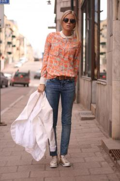 : Casual Outfit, Fashion, Inspiration, Blouse, Peter Pan Collars, Street Style, Jeans, Shirt