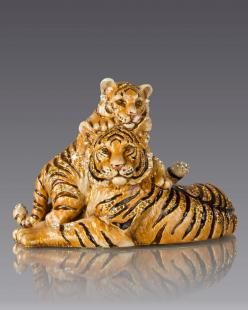 Jay Strongwater Mother & Baby Tiger Figurine: Babies, Mothers, Tiger Figurine, Strongwater Mother, Baby Tigers