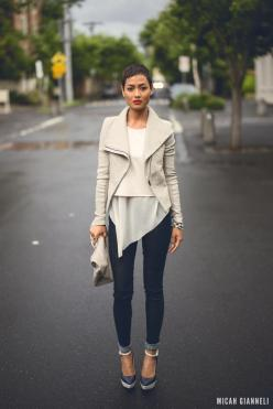 ...like those layers under a moto jacket...http://www.hotpatterns.com/hp-1173-metropolitan-domino-sweat-shirt/: Fashion, Street Style, Micah Gianneli, Fall Outfit, Beige Outfit, Fall Winter, Top