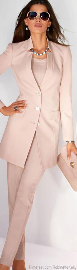 "Madeleine - It seems like Pants Suits with Longer Jackets are back ""in style"" Great colour for Spring...: Women S, Womens Fashion, Style, Dress, Suits"