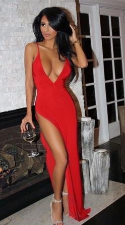 MJ: Sexy Dresses, Red Dresses, Lady In Red, Closet Ideas, Sexy Gowns, Clothing Styles, Red Hot, Sexy Curves, Red Maxi Dresses