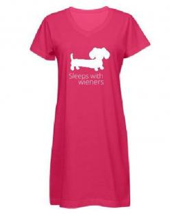 Night Gown | Sleeps With Wieners: Dachshund Night, Wieners Dachshund, Gown Sleeps