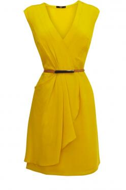 Oasis All Dresses http://www.halftee.com Womens Fashion Clothing: Wrap Dresses, Style, Yellow Dresses, Color, Oasis Silk, Silk Drape