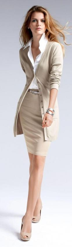 Office Wear: Elegant Outfit, Dress, Work Outfits, Office Outfits