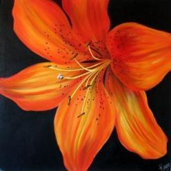 Orange tiger lily... our flower and colors! #wedding: Tattoo Ideas, Lilies Tattoo, Tiger Lilies, Color Tattoos, Tiger Lily Tattoos, Tigers, Painting, Favorite Flower