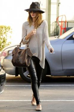 Rosie Huntington Whitley: Huntington Whiteley, Fashion, Street Style, Outfit, Rosie Huntington, Leather Leggings, Leather Pants, Has