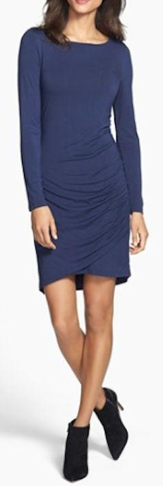 side shirred knit dress  http://rstyle.me/n/mrekapdpe: Fashion Boutique, Knit Dress, Blue, Fashionably Fabulous, Shirred Knit