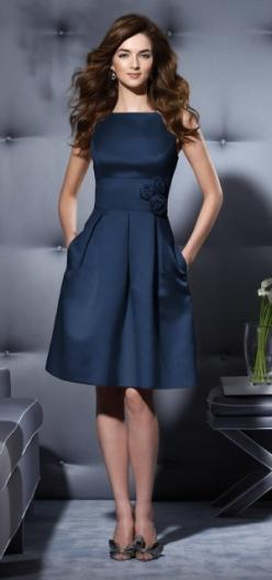 So classy - Alfred Sung: Style, Cute Dresses, Color, Bridesmaid Dresses, Navy Dress, Navy Blue