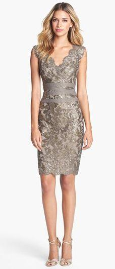 Tadashi Shoji Embellished Metallic Lace Sheath Dress: Metallic Lace, Rehearsal Dinner, Style, Lace Sheath Dress, Tadashi Shoji, Sheath Dresses