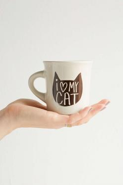 Tasse I Heart My Cat.: Crazy Cats, Urbanoutfitters, Urban Outfitters, Heart, Gift Ideas, Cat Mug, Crazy Cat Lady, Mugs