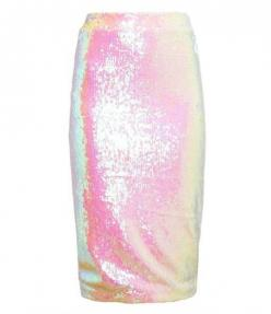 Filles a Papa - Iridescent Sequin Pencil Skirt