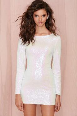 Glamorous Let It Snow Sequin Dress | Shop Dresses at Nasty Gal