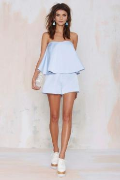 Keepsake Night After Night Layered Romper | Shop Clothes at Nasty Gal