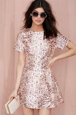 Nasty Gal On the Prowl Fit and Flare Dress - Going Out | Fit-n-Flare | Dresses