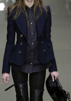Burberry - properly fitted blazer   stockings and thigh high boots http://www.ladystuff.co: Fashion, Black Thigh High Boot, Fall Style, Burberry Prorsum, Fall Winter, Burberry Jacket, Blazer Stockings