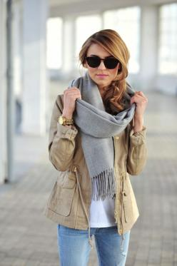 #Fallclothes: Jacket, Casual Outfit, Outfit Ideas, Style, Fall Outfits, Fall Fashion, Grey Scarf, Fall Date Outfit, Fall Winter
