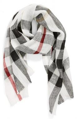 Free shipping and returns on Burberry 'Giant Exploded Check' Linen Scarf at Nordstrom.com. Summer-ready linen composes an Italian-crafted scarf patterned in huge, exploded-scale checks.: Burberry Check, Burberry Scarfs, Linens, Burberry Giant, Bur