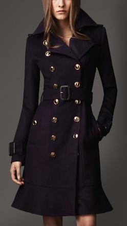 Long Frill Detail Trench Coat | Burberry: Burberry Coat, Style, Long Frill, Trench Coats, Frill Detail, Burberry Trench Coat