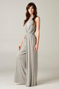 Madison Jumpsuit in Heather Gray on Emma Stine Limited: Clothes Comfort Style, Bright Color, Heather Gray, Madison Jumpsuit, Jumpsuits Uniforms Overalls, Wear Jumpsuits, Gray Jumpsuits, Pantsuits Jumpsuits