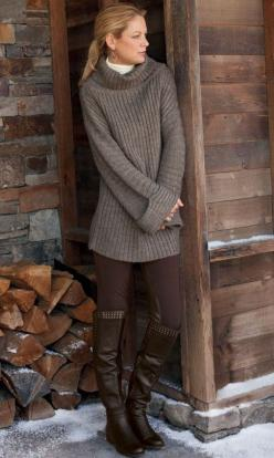 Want this sweater!: Color Brown, Winter Style, Fall Brown, Comfy Sweater, Winter Fashion, Cozy Sweaters, Fall Winter Outfits, Comfy Cozy