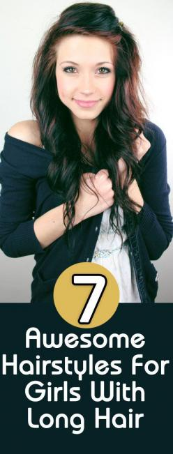 7 Awesome Hairstyles For Girls With Long Hair : So here are a few easy and interesting hairstyles to help you style your long hair, while keeping them open or tied up.: Hair 3, Long Hair Style, Idea, Hair Colors, Awesome Hairstyles, Hair Styles, Hair Make