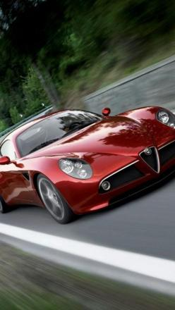 ♂ alfa romeo 8c, #red #cars #wheels