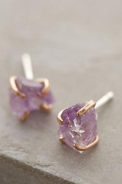 Beautiful mineral stud earrings #anthrofave http://rstyle.me/n/r4q8wnyg6
