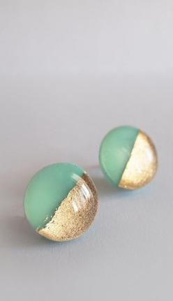 Golden Dipped Earrings $14 - Bought these for my sister for her birthday and they are so perfect