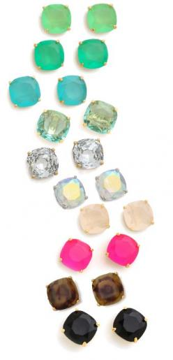 Love all colors of Kate Spade studs: Kate Spade Bag, Small Stud Earring, Fashion Style, Spade Studs, Kate Spade Stud Earring, Spade Earrings, Kate Spade Earring, Colorful Kate, Katespade