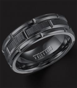 mens wedding band | Home / Wedding Bands / Mens Wedding Bands / Black Tungsten Carbide ... #MensWeddingRing #MensWeddingBand #MansRing