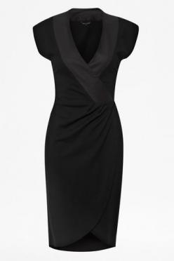 French Connection Tabitha Tux Jersey Cross Over Dress - Lyst: Style, Dress Frenchconnection, Lbds, Frenchconnection Dress, Black Dress