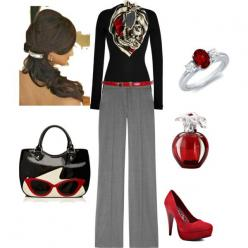 Fun work outfit, created by jennaplatt on Polyvore: Outfit Red, Polyvore Check, Cute Fall Outfits, Fun Work, Purse, Outfit Dominque, Fun Outfit, Work Outfits, Outfit Created