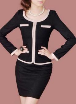 Long-sleeved Wool Business Dress D49H,  Other, HEGO  Long-sleeved Wool Business Dress, Chic: Black Business, Dress Suits For Women, Business Suits For Women, Business Dresses, Black Suit For Women, Work Suits, Women Suits Business, Women'S Business Su
